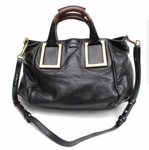 Authentic Chloe Shoulder Bag ETHEL Black Leather